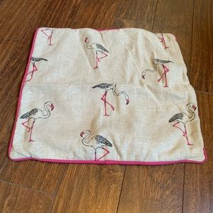 Cushion cover with flamingo
